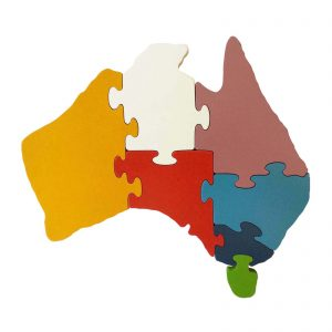 Australia wooden puzzle state colours