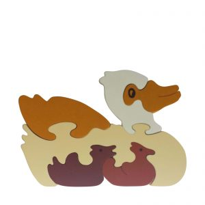 duck wooden animal puzzle natural colours