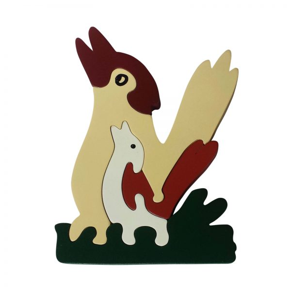 kookaburra wooden animal puzzle natural colours