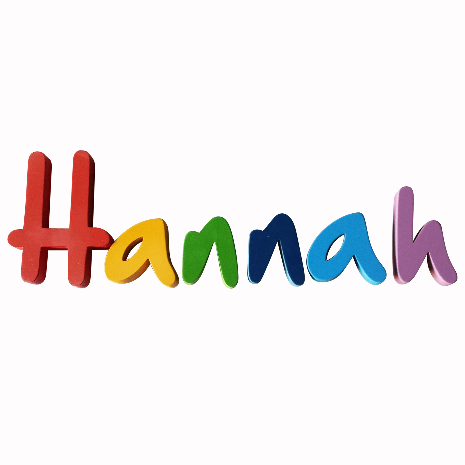 The Name Hannah In Bubble Letters