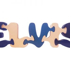 Elvis wooden name puzzle
