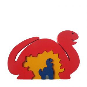 Dinosaur Wooden Animal Puzzle Primariy Colours